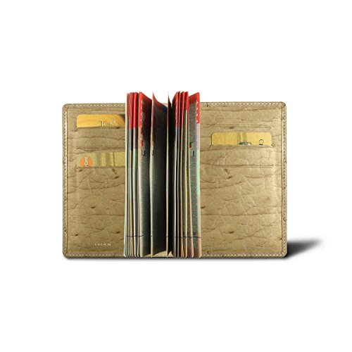 Lucrin - Protège passeport Luxe - Autruche Véritable