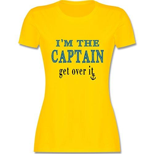 Schiffe - I'M THE CAPTAIN - get over it - tailliertes Premium T-Shirt mit Rundhalsausschnitt für Damen Gelb
