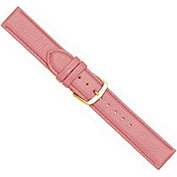 Beach Replacement Band Watch Band Leather Kalf pink 20442G, width:28mm