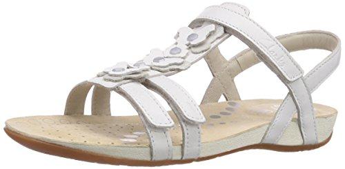 Clarks Rio Dance Jnr, Mädchen Slingback Sandalen, Weiß (White Leather), 37 EU