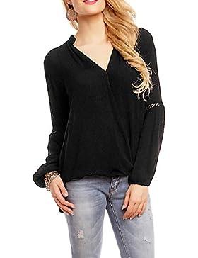 Unbekannt - Camisas - Básico - cuello mao - para mujer