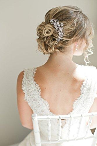 EVER FAITH® Kristall Vintage Inspiriert Schmetterling Blume Hochzeit Haarkamm Haarschmuck N03349-1 - 2