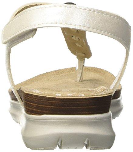 INBLU Damen Tufurai Flops Elfenbein (Bianco)