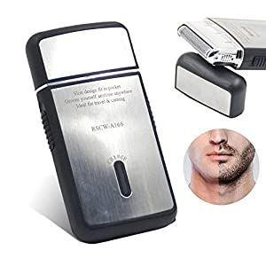 Volwco Mini Electric Shavers For Men,Portable Electric Shavers,Reciprocating Razor USB Rechargeable For Travel Cordless Compact Razor