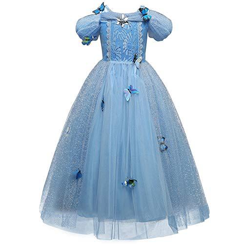 Yigoo Mädchen Kostüm Cinderella Prinzessin Kleid Party Kinder Spitze Cosplay Paillette Kleidung Festival Hallween Karnerval ()