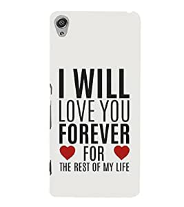 FUSON Love You Forever Life 3D Hard Polycarbonate Designer Back Case Cover for Sony Xperia XA :: Sony Xperia XA Dual