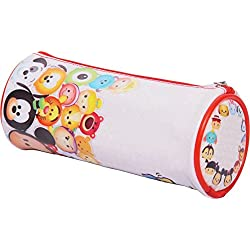 HMI Original Disney & Marvel Licensed PVC Pencil Pouch / Pencil Bag, Round Cylindrical Shaped (Disney Tsum Tsum)