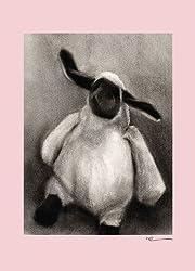 Oopsy Daisy Charcoal Lamb Canvas Wall Art, Pink, 10