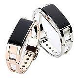 Schöne Uhren, Damen Smart Uhr digital LED / Fernbedienung / Kalender / Alarm / Schrittzähler / Fitness Tracker / Stopuhr Legierung Band CoolSilber / ( Farbe : Silber , Großauswahl : Einheitsgröße )