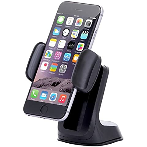 Supporto da auto, angoli di visione con altezza regolabile Smart Grip, cruscotto parabrezza per iPhone 5S 6S Plus Galaxy S7 S6 Edge Note 5 4 – Retail Pack