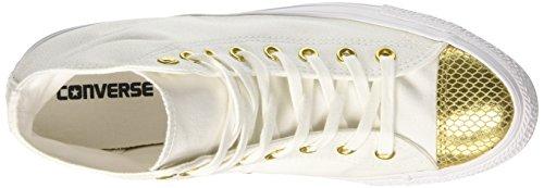 Converse Ctas Hi, Sneaker Un Collo Alto Donna Bianco (blanc / Or / Blanc)