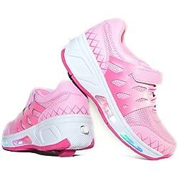 Usay like Envio 24H Zapatillas con Ruedas Color Rosa Pink Para Niña Chica Talla 30 Hasta 38 Envio Desde España (EU34)