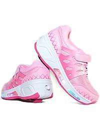 Envio 24H Usay like Zapatillas Con Ruedas Color Rosa Pink Para Niña Chica Talla 30 hasta 38 Envio Desde España