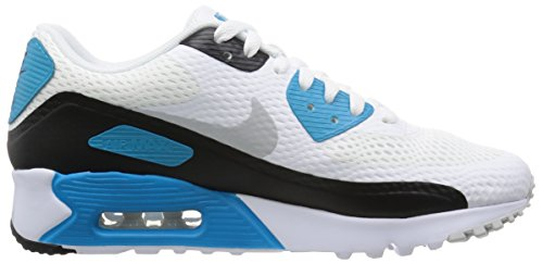 Nike Air Max 90 Ultra Essential, Baskets Homme, Bleu Blanco (White / Neutral Grey-Lsr Bl-Blk)