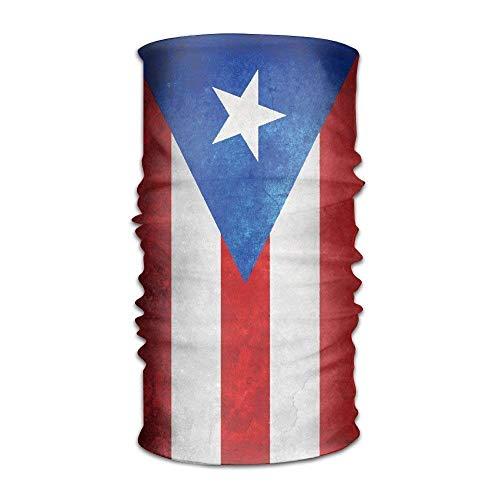 False warm warm Puerto Rico Flag Multifunctional Magic Headwear -in-1 Men&Women Tube Scarf Facemask Headbands Neck Gaiter Bandana Balaclava Helmet Outdoor Running Yoga Work Out (Fox Bandana)