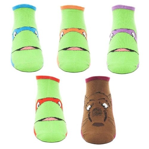 Teenage Mutant Ninja Turtles Größe 43/46Knöchel Socken Leonardo/Donatello/Raphael/Michelangelo/SPLINTER (Socken Ninja Mutant Teenage Turtle)