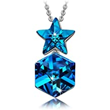 "NINASUN ""Estrella Centellante"" 925 Plata Colgante Collar Mujer Fabricados con Cristales Swarovski"