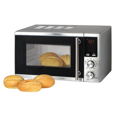 20 Liter Mikrowelle mit Grill-Funktion, Pizza und Kaffee-Programm 1200 Watt Microwelle / 8 Automatik-Programme / Microwave