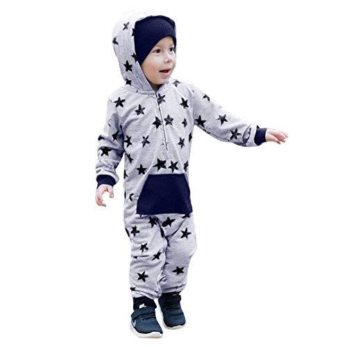 Quaan Neugeborenes Kleines Kind Säugling Star Drücken Tasche Mit Einem Hoodie Strampler Overall Beiläufig Kleider Charakter Mit Einem Hoodie Party Kürbis Halloween warm weich gemütlich Outwear