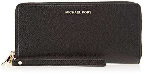 Michael Kors Damen Money Pieces Handgelenkstasche, Schwarz (Black), 2.5x10.2x21.6 cm
