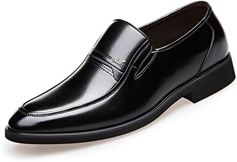 Fang shoes  2018 Klassische Herrenschuhe Glattes PU Leder Slip on weisshe Sohle Business Oxfords für Herren (Color