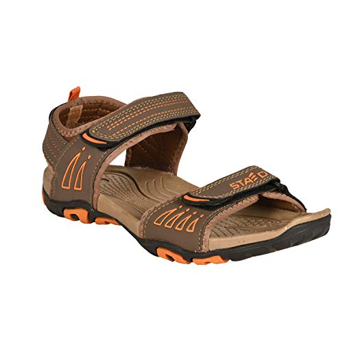 Staed Men's Comfortable Velcro Closure Solid Casual Sandals