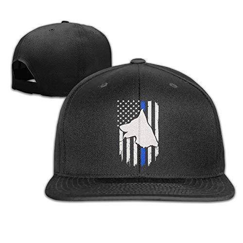 UUOnly Erwachsener Erwachsener K9 Polizeihund dünne Blaue Linie Markierungs-justierter Flacher Bill-Baseballmütze-Hut -