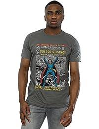 Marvel Herren Doctor Strange Comic Cover T-Shirt Small Holzkohle