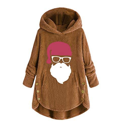 Auiyut Damen Kapuzenpullover Plüsch Sweatshirt Fleece Hoodies Plüsch Pullover Dicke Mantel mit Tasche Langarm Herbst Winter Kapuzenjacke Oversize Winterjacke Fleece Pullover Einfarbig Hoodie