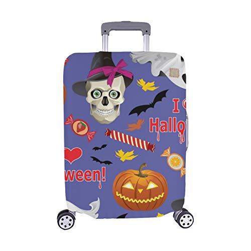 Textur auf Halloween Thema Spandex Trolley Reise Gepäck Schutz Koffer Abdeckung 28,5 X 20,5 Zoll