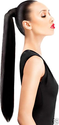 BigWave wrap around Pony Tail natural black color Hair extension 24 inch