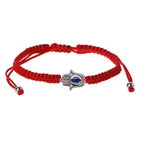 Xuniu Pulsera de Cuerda roja Hecha a Mano, Pulseras Hamsa Pulsera de Mano Azul Evil Eye Fatima - Style B