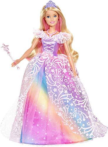 Barbie dreamtopia principessa gran galà bambola con accessori, giocattolo per bambini 3+ anni, gfr45