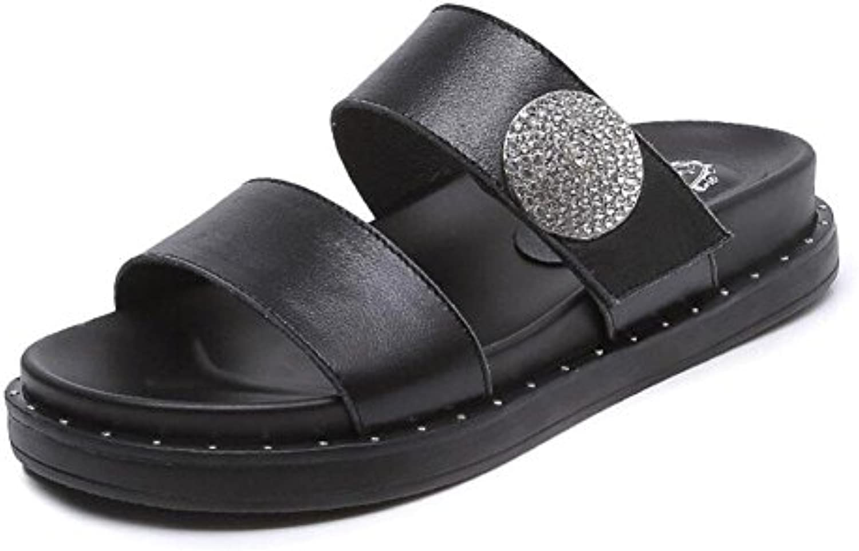 Mujer Sandalias Verano Nueva Plataforma De Ocio Gruesos Sandalias De Agua Diamantes Mediados De Tacones Zapatos...