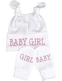 Spoilt Rotten - Baby Girl Knotenmütze & Kratzhandschuhe Babyset