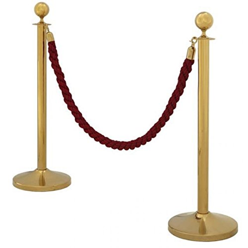 Casa-Padrino VIP enclosure - Gold/Bordeaux - Hotel/disco/club/Trade - Stanchion Post Set