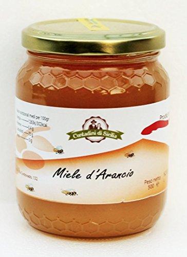 Miele d'Arancio di Sicilia gr 500 ricco di vitamine ed antiossidanti,