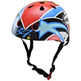 Kiddimoto Kevin Schwantz Small - Casco de ciclismo infantil para bicicleta BMX, color multicolor ( 48 - 52 cm )