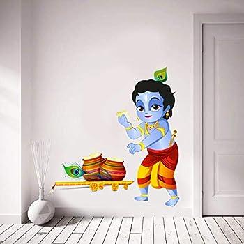 WOW Interiors Krishna Wall Sticker 4K Wall Stickers Wall Decals