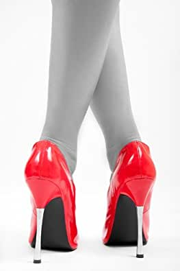Extravaganter High Heels in rotem Lack Gr.43
