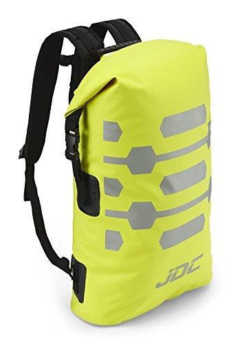 JDC Zaino da moto Dry Bag 100% impermeabile, capacità 30L - Reflector - Giallo