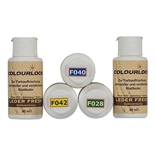 Colourlock® Leder Fresh Tönung Mini 30 ml F-Standard-Farbe F034 schwarz (Lederfarbe, Farbauffrischung), beseitigt Schrammen, Ausbleichungen und Abnutzung an Leder und Kunstleder (Schwarz-leder Farbe)