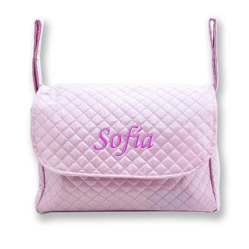 Preisvergleich Produktbild Meine persönlichen Pipo–Handtasche Stickerei Baby Pink, Farbe: Fuchsia
