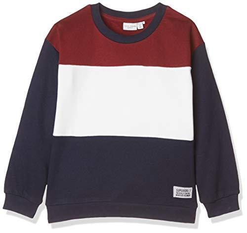 NAME IT Baby-Jungen NKMVANCE LS SWE BRU N Sweatshirt, Rot (Cabernet Cabernet), (Herstellergröße: 98)