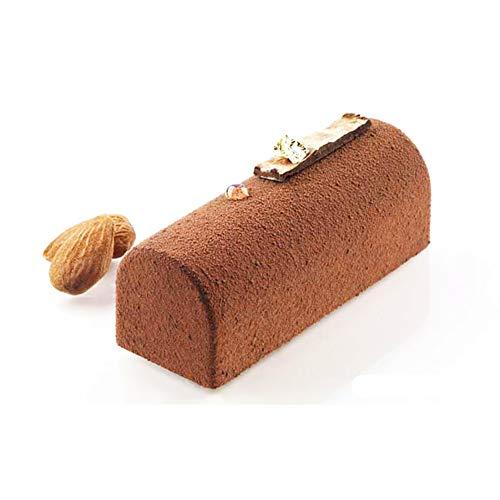 HYZ 1PCS Silicone Roll Non-Stick Mold Log Delicate Chocolate Desserts Dekorationswerkzeug für Twinkie Cake Candy Pastries Fondant Molds