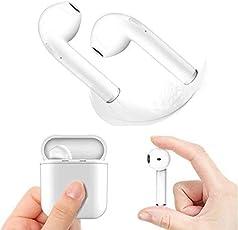 Auricolari Bluetooth Cuffie wireless, Mini Cuffie con custodia di ricarica per bassi ricchi Altoparlante ad alto livello a basso rumore con modalità Dual HD Ear Fit per iPhoneX / 8/7/7 Plus / 6S / 6S Plus e Samsung Galaxy S7 / S8 / S8 Plus - Bianco…
