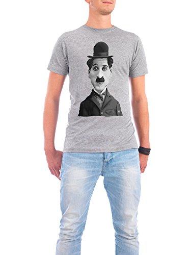 """Design T-Shirt Männer Continental Cotton """"Charlie Chaplin"""" - stylisches Shirt Film von Rob Snow Grau"""