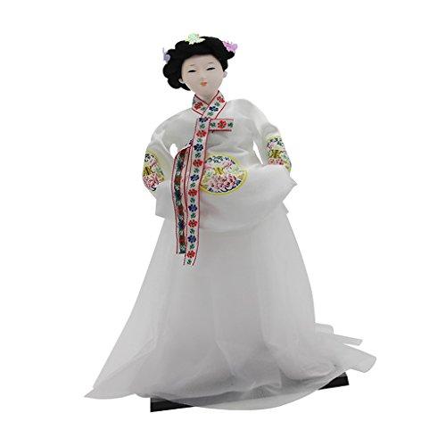 Baoblaze Japanische Geisha Puppe/ Koreanische Geisha / Japanischen Samurai, Kunst Sammlerstücke, Kreatives Geschenk - Koreanische Geisha ()
