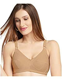 97c7920cba DAISY DEE Skin Color Cotton Wirefree Regular Straps Seamed Full Coverage  Non Padded Bra for Women
