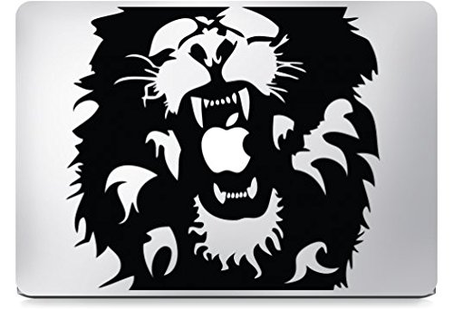 Preisvergleich Produktbild Macbook Sticker Lion Löwe King of the jungle Aslan Decal Aufkleber Apple (Macbook Pro Touch & Air 13, Rot)